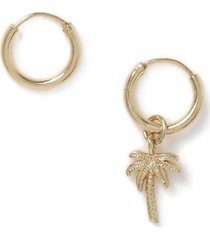 mens gold asymmetric earrings*