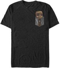 fifth sun star wars men's chewie cutie pocket short sleeve t-shirt