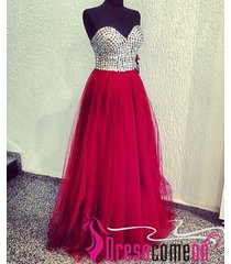 ball gown prom dress,burgundy red sexy dress,plus size evening/party dress r339