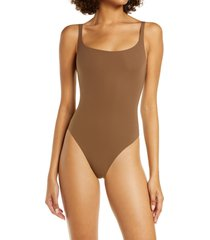 skims fits everybody square neck sleeveless bodysuit, size 3x in oxide at nordstrom