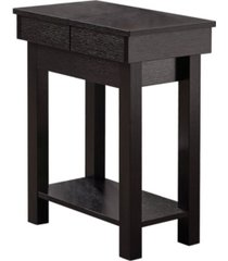 """monarch specialties accent table - 24"""" h cappuccino with storage"""