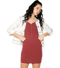 vestido rojo-blanco active