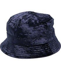 needles velour bucket hat - blue