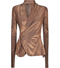 rick owens lilies lilies wrap fitted jacket