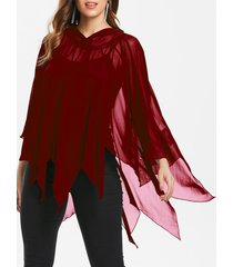 halloween handkerchief mesh cape with tank top