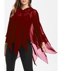 halloween handkerchief mesh cape with tank top