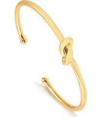 bracelete grosso com nó central folheado francisca joias