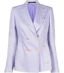central tear doublebreasted blazer