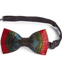 men's brackish & bell hemingway feather bow tie
