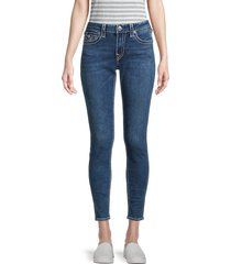 true religion women's jennie big t skinny ankle jeans - medium blue - size 24 (0)