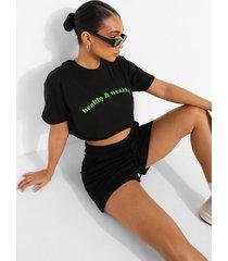 kort healthy & wealthy t-shirt, black
