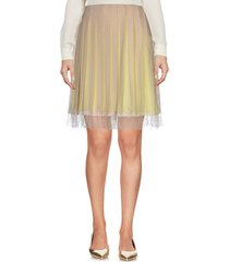 gold case knee length skirts