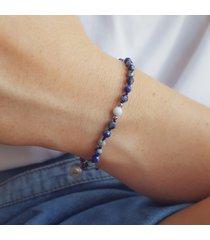 bransoletka lapis lazuli z błękitnym opalem