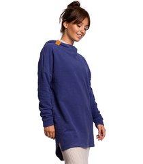 asymetryczna bluza-indygo(b-176)
