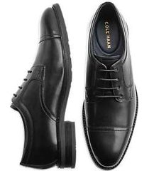 cole haan winston black cap toe derbys