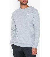 adidas originals essential crew tröjor grå