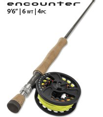 """encounter 6-weight 9'6"""" fly rod outfit"""