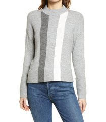 women's halogen mock neck sweater, size xx-large - grey