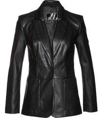 blazer lungo in similpelle (nero) - bpc selection