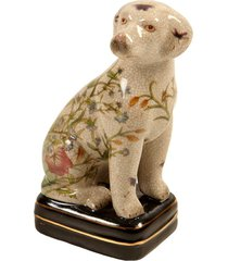 escultura decorativa de porcelana cachorro puppy