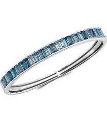 effy women's sterling silver, london blue & blue topaz bangle bracelet
