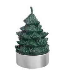 jogo vela rechaud árvore bosque natalino - home style