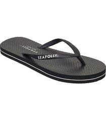 walk about divine thong shoes summer shoes flip flops svart seafolly