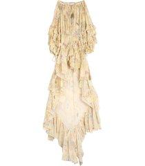 etro cotton printed long dress