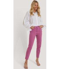 trendyol mom-jeans med hög midja - pink