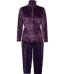 decoy velour homewear set pyjama paars decoy