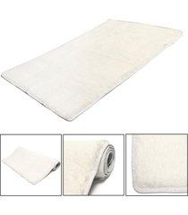 mat moda dormitorio estera del piso mullido manta antideslizante salón del hogar del amortiguador alfombra negro - arroz blanco