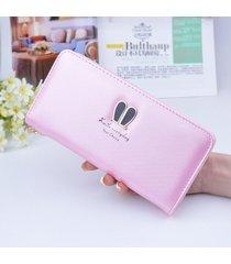 gran capacidad cartera para mujer/ bolso de pulsera-rosa