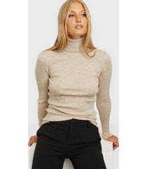 selected femme slfcosta ls knit rib rollneck b stickade tröjor