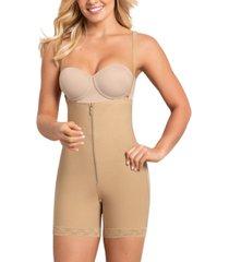 leonisa women's firm tummy-control wyob strapless faja thigh-slimmer 018486