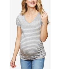 motherhood maternity ruched t-shirt