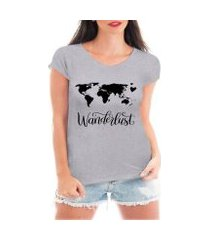 camiseta criativa urbana wanderlust viagem mapa