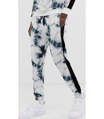 pantalones casuales transpirables con cordón y estampado tie dye de moda para hombre