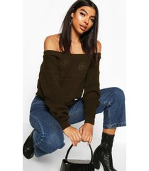 tall slash neck crop sweater, khaki