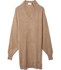 gambier sweater dress in safari