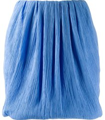 nina ricci micro-pleated mini skirt - blue