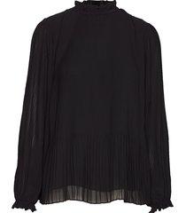 mindy ls 6621 blouse lange mouwen zwart samsøe & samsøe