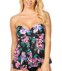 island escape in your dreams printed flyaway underwire tankini top, created for macy's women's swimsuit