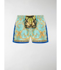 versace barocco print swim shorts
