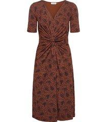 dress knälång klänning brun rosemunde