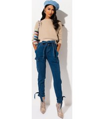 akira eyes on you high waisted tie ankle jeans