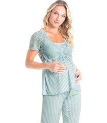 pijama longo maternidade natália