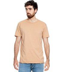 camiseta básica cuello redondo con cortes en ruedo color blue