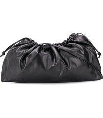 studio amelia maxi drawstring shoulder bag - black