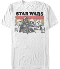 star wars men's classic retro darth vader and stormtroopers short sleeve t-shirt