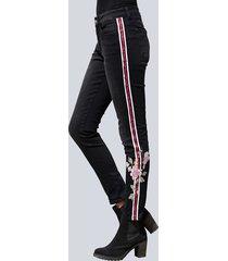 jeans, stuprör alba moda svart